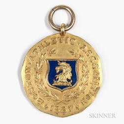 Dieges & Clust Boston Athletic Association 14kt Gold and Enamel Invitation Games Medal