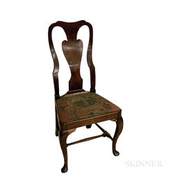 Queen Anne Carved Walnut Side Chair