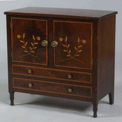 Federal Miniature Mahogany Inlaid Cabinet