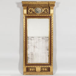 Neoclassical Painted and Gilt Mirror