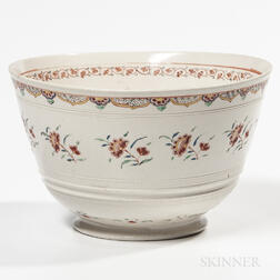 Staffordshire Salt-glazed Stoneware Punch Bowl