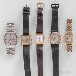 Five Vintage Wristwatches