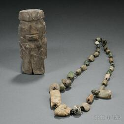 Two West Mexican Pre-Columbian Stone Items