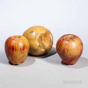 Oversized Stone Mango and Two Apples