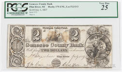 The Genesee County Bank $2 Note, PCGS Very Fine 25
