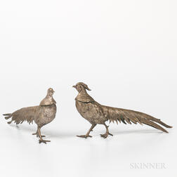 Pair of Brass Pheasants