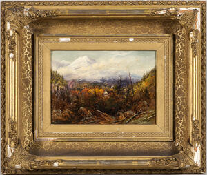 Susie M. Barstow (American, 1836-1923)      Mountain Landscape in Autumn