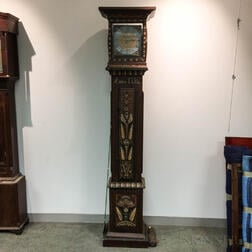 Grained and Paint-decorated Tall Case Clock