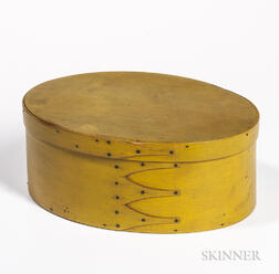 Shaker Yellow-painted Pantry Box