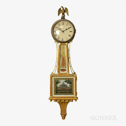 """Chelsea Patent Timepiece or """"Banjo"""" Wall Clock"""
