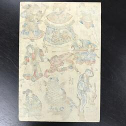 Three Utagawa School Woodblock Prints