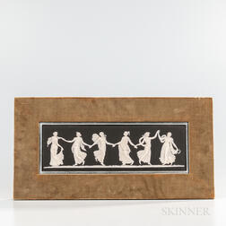 Wedgwood Black Jasper Dip Dancing Hours   Plaque