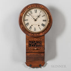 Inlaid Rosewood English Wall Clock