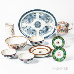 Group of Export Porcelain Table Items