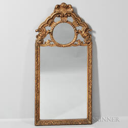 Neoclassical-style Gilt-composite Mirror