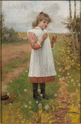 James Wells Champney (American, 1843-1903)      Does Mother Want Me?