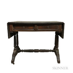 William IV Rosewood and Maple Sofa Table