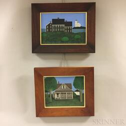 Four Framed Ted Jeremenko (New York, b. 1938) Acrylic on Canvas House Portraits