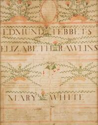 Attributed to George Melville (American, active late 18th century)    Quaker Family Record