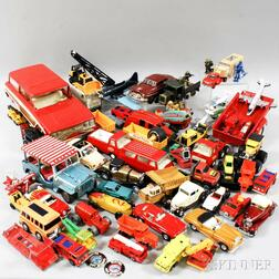 Group of Vintage Toy Vehicles