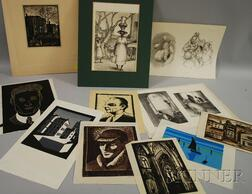 Lot of Eleven Prints:      Including Works by Eliza Draper Gardiner (American, 1871-1955)   and Edna Lawrence (American, 1898-1987)