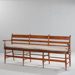 Tiger Maple Settee