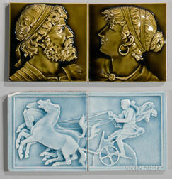 Four Trent Tile Company Art Pottery Tiles