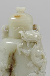 Nephrite Jade Covered Vase