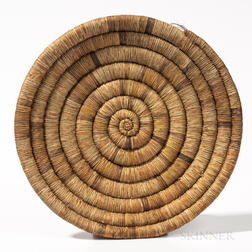 Southwest Coiled Basketry Wedding Plaque
