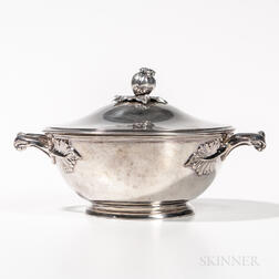 French 950 Sterling Silver Tureen and Cover