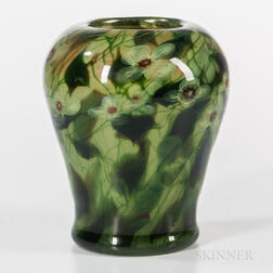 Tiffany Studios Poppy Paperweight Vase