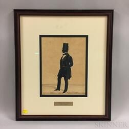 Framed Henry Firth Silhouette of a Gentleman