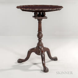 Carved Mahogany Piecrust Table