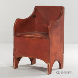Red-painted Chamber Chair