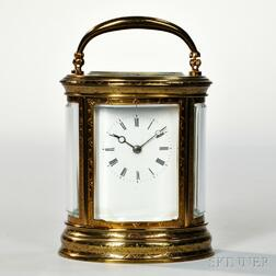 Japy Freres Oval Carriage Clock