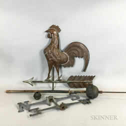 Full-body Sheet Copper Rooster Weathervane