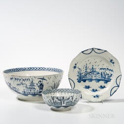 Three Pearlware Table Items