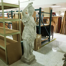 Monumental Marble Sculpture of Flora