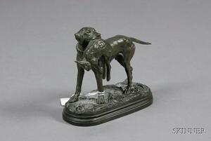 Bronze Figure of a Dog with Game