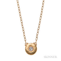 High-karat Gold and Diamond Pendant Necklace, Gurhan