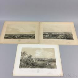 Three Bachelder Lithographs of New England Towns