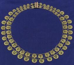 18kt Gold and Plique-a-jour Enamel Necklace