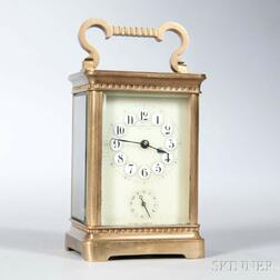 Tiffany Time and Alarm Carriage Clock