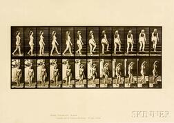 Eadweard Muybridge (British, 1830-1904)  Two Plates from Animal Locomotion: Plate 47 (Nude Woman Walking and Turning...