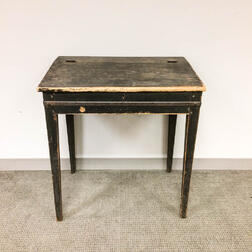 Country Blue-painted Poplar Lift-top Desk