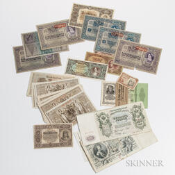 Group of European Paper Money