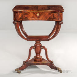 Mahogany Regency Sewing Table