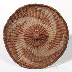Southwest Plaited Wicker Tray