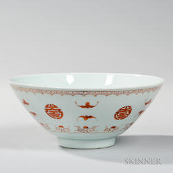 Enameled White-glazed Bowl