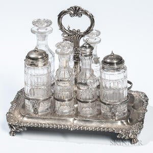 Assembled George III Sterling Silver Cruet Set